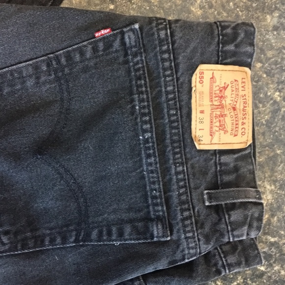 Levis Black Jeans Red Tag 505 36-36